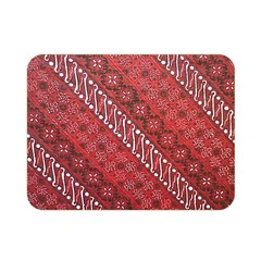 Red Batik Background Vector Double Sided Flano Blanket (mini)  by BangZart