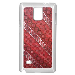 Red Batik Background Vector Samsung Galaxy Note 4 Case (white) by BangZart