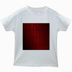 Red Dark Vintage Pattern Kids White T Shirts