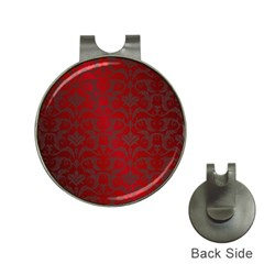 Red Dark Vintage Pattern Hat Clips With Golf Markers by BangZart