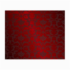 Red Dark Vintage Pattern Small Glasses Cloth (2 Side)