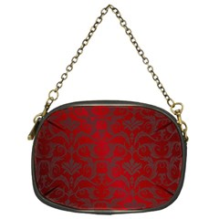 Red Dark Vintage Pattern Chain Purses (one Side)  by BangZart