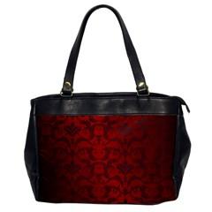 Red Dark Vintage Pattern Office Handbags