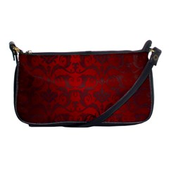 Red Dark Vintage Pattern Shoulder Clutch Bags by BangZart