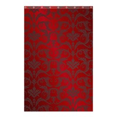 Red Dark Vintage Pattern Shower Curtain 48  X 72  (small)  by BangZart
