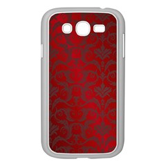 Red Dark Vintage Pattern Samsung Galaxy Grand Duos I9082 Case (white) by BangZart