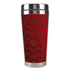 Red Dark Vintage Pattern Stainless Steel Travel Tumblers by BangZart