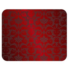Red Dark Vintage Pattern Double Sided Flano Blanket (medium)  by BangZart