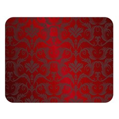 Red Dark Vintage Pattern Double Sided Flano Blanket (large)  by BangZart