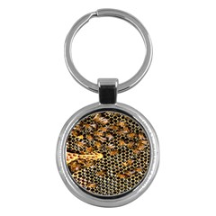 Queen Cup Honeycomb Honey Bee Key Chains (round)  by BangZart