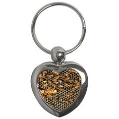 Queen Cup Honeycomb Honey Bee Key Chains (heart)  by BangZart