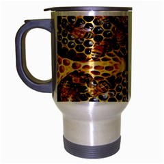 Queen Cup Honeycomb Honey Bee Travel Mug (silver Gray) by BangZart
