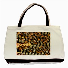 Queen Cup Honeycomb Honey Bee Basic Tote Bag by BangZart