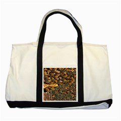 Queen Cup Honeycomb Honey Bee Two Tone Tote Bag