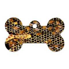 Queen Cup Honeycomb Honey Bee Dog Tag Bone (two Sides) by BangZart