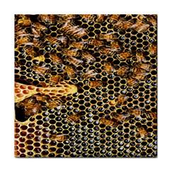 Queen Cup Honeycomb Honey Bee Face Towel
