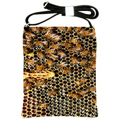 Queen Cup Honeycomb Honey Bee Shoulder Sling Bags by BangZart