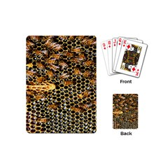Queen Cup Honeycomb Honey Bee Playing Cards (mini)  by BangZart