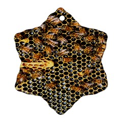 Queen Cup Honeycomb Honey Bee Snowflake Ornament (two Sides) by BangZart