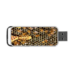 Queen Cup Honeycomb Honey Bee Portable Usb Flash (two Sides) by BangZart