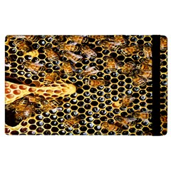 Queen Cup Honeycomb Honey Bee Apple Ipad 3/4 Flip Case by BangZart