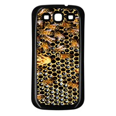 Queen Cup Honeycomb Honey Bee Samsung Galaxy S3 Back Case (black) by BangZart