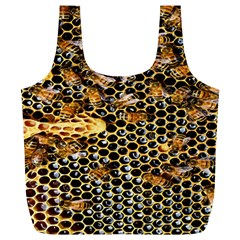 Queen Cup Honeycomb Honey Bee Full Print Recycle Bags (l)