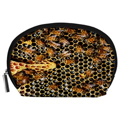 Queen Cup Honeycomb Honey Bee Accessory Pouches (large)  by BangZart