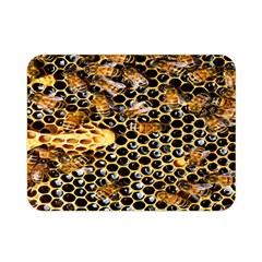 Queen Cup Honeycomb Honey Bee Double Sided Flano Blanket (mini)