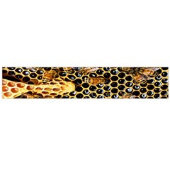 Queen Cup Honeycomb Honey Bee Flano Scarf (large)