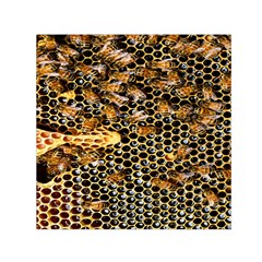 Queen Cup Honeycomb Honey Bee Small Satin Scarf (square) by BangZart