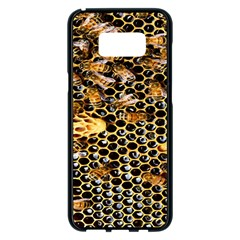 Queen Cup Honeycomb Honey Bee Samsung Galaxy S8 Plus Black Seamless Case