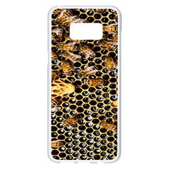 Queen Cup Honeycomb Honey Bee Samsung Galaxy S8 Plus White Seamless Case