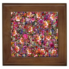 Psychedelic Flower Framed Tiles by BangZart