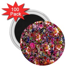 Psychedelic Flower 2 25  Magnets (100 Pack)
