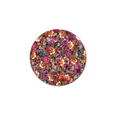 Psychedelic Flower Golf Ball Marker by BangZart