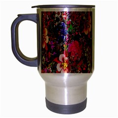 Psychedelic Flower Travel Mug (silver Gray) by BangZart