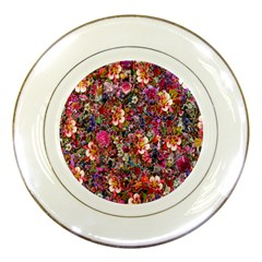 Psychedelic Flower Porcelain Plates by BangZart