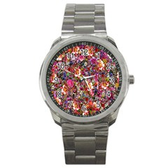Psychedelic Flower Sport Metal Watch by BangZart
