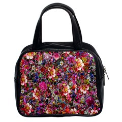 Psychedelic Flower Classic Handbags (2 Sides)