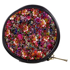 Psychedelic Flower Mini Makeup Bags by BangZart