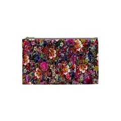 Psychedelic Flower Cosmetic Bag (small)  by BangZart
