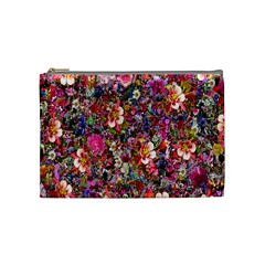 Psychedelic Flower Cosmetic Bag (medium)  by BangZart