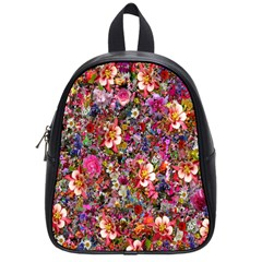 Psychedelic Flower School Bags (small)  by BangZart