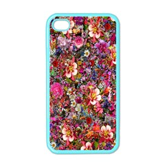 Psychedelic Flower Apple Iphone 4 Case (color)
