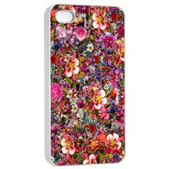 Psychedelic Flower Apple Iphone 4/4s Seamless Case (white) by BangZart