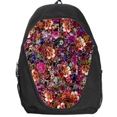 Psychedelic Flower Backpack Bag by BangZart