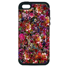 Psychedelic Flower Apple Iphone 5 Hardshell Case (pc+silicone) by BangZart