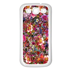 Psychedelic Flower Samsung Galaxy S3 Back Case (white)