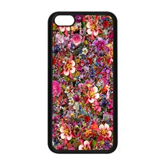 Psychedelic Flower Apple Iphone 5c Seamless Case (black) by BangZart
